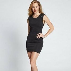 GUESS Cap-Sleeve with Metallic Sequin Dress Small